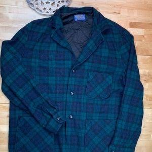 Vtg Pendleton tartan plaid blazer shirt